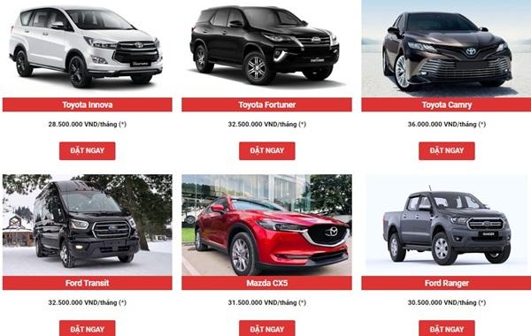 ICC có nhiều mẫu xe cho thuê hợp đồng