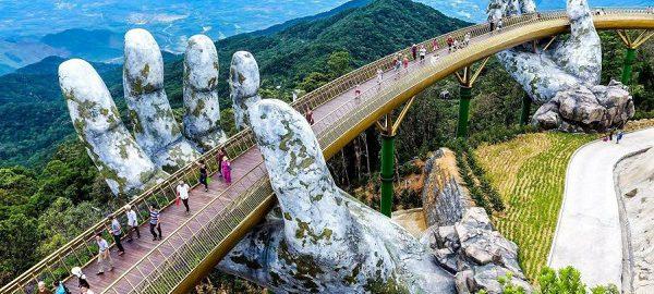 Hình ảnh cây Cầu Vàng – Bà Nà Hills