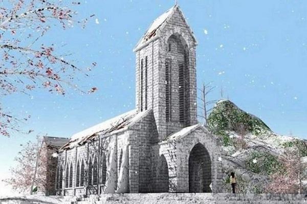 Nhà thờ Đá Sapa là một công trình kiến trúc nổi tiếng