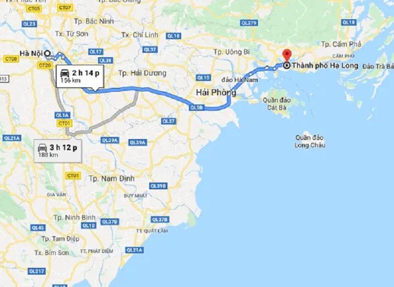 Tổng quan hành trình di chuyển đến vịnh Hạ Long