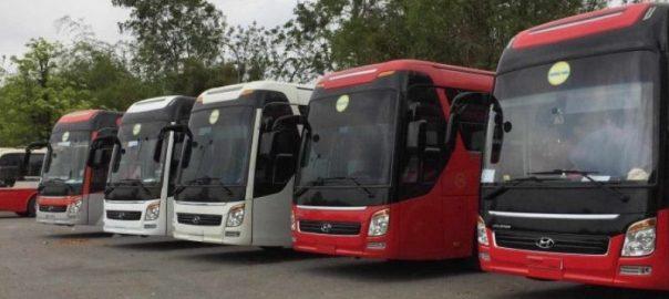 Xe khách 45 chỗ chuyên chở hành khách đi du lịch